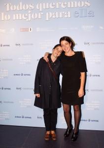 Mar Coll y Nora Navas en la presentación  de Todos queremos lo mejor para ella