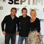 Ricardo Darín, Patxi Amezcua, y Belén Rueda en la presentación de Séptimo