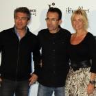 Ricardo Darín, Patxi Amezcua, y Belén Rueda en la presentación de Séptimo (2)