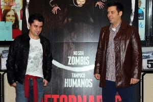 Hatem Khraiche y Manuel Carballo en la presentación de Retornados
