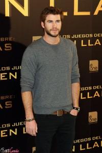 Liam Hemsworth en la presentación de Los juegos del hambre: En llamas