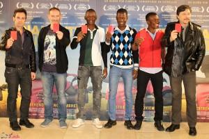 Carlo D´Ursi, Miguel Alcantud, Setigui Diallo, Hamidou Samaké, Alassane Diakite, y Carlos Bardem en la presentación de Diamantes negros (2)