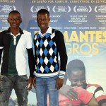 Setigui Diallo y Hamidou Samaké en la presentación de Diamantes negros