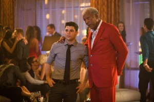 Jerry Ferrara y Morgan Freeman en Plan en Las Vegas