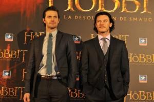 Richard Armitage y Luke Evans en la presentación de  El Hobbit: La desolación de Smaug