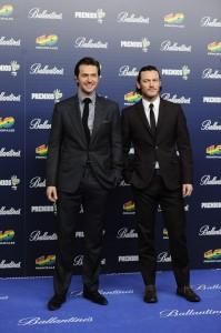 Richard Armitage y Luke Evans en Los premios 40 Principales 2013