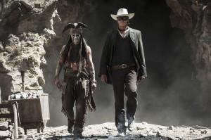 Johnny Depp y Armie Hammer en El llanero solitario