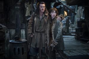Luke Evans y John Bell en El Hobbit: La desolación de Smaug