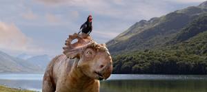 Alex y Patch en Caminando entre dinosaurios