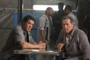 Sylvester Stallone y Arnold Schwarzenegger en Plan de escape