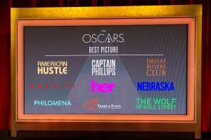 Nominadas a mejor película en los Oscars 2014