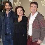 Eduardo Noriega, Clara Sánchez, y Santiago Tabernero en la presentación de Presentimientos
