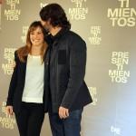 Marta Etura y Eduardo Noriega en la presentación de Presentimientos
