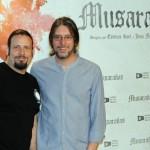 Esteban Roel y Juanfer Andrés en la presentación de fin de rodaje de Musarañas