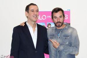 Roberto Santiago y Santi Millán en la presentación de Sólo para dos