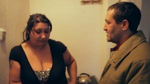 Senada Alimanovic y Nazif Mujic en La mujer del chatarrero