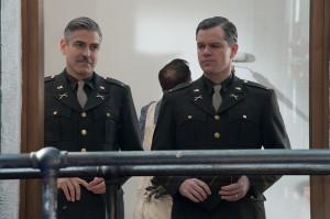 George Clooney y Matt Damon en Monuments Men