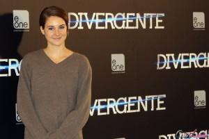 Shailene Woodley en la presentación de Divergente