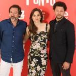 Ginés García Millán, Leonor Watling y Richard Coyle en la presentación de Amor en su punto