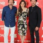 Ginés García Millán, Leonor Watling y Richard Coyle en la presentación de Amor en su punto (2)