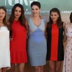 Lucía Guerrero, Patricia Vico, Paloma Bloyd, Andrea Duro, y Lucía Delgado en la presentación de Perdona si te llamo amor (2)