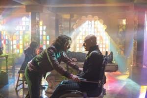 James McAvoy y Patrick Stewart en X-Men: Días del futuro pasado