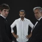 Quim Gutiérrez,Javier Ruiz Caldera, e Imanol Arias en el rodaje de Anacleto: Agente secreto