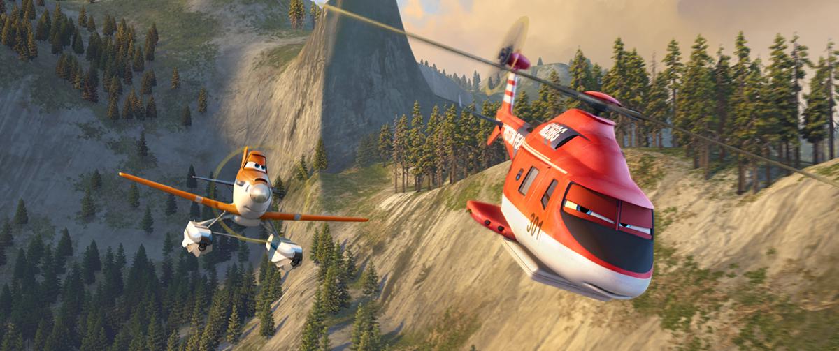 Dusty y Blade Ranger en Aviones: Equipo de rescate