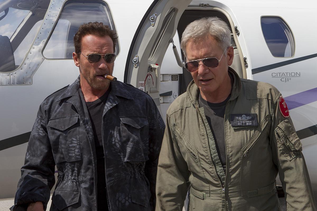 Arnold Schwarzenegger y Harrison Ford en Los mercenarios 3