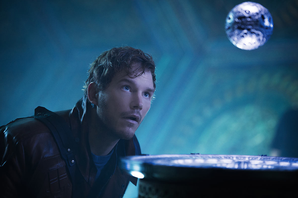 Chris Pratt en Guardianes de la galaxia