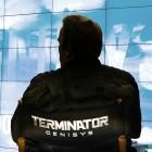Arnold Schwarzenegger en el rodaje de Terminator: Genisys