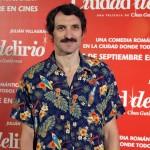 Julián Villagrán en la presentación de Ciudad Delirio