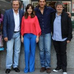 José Coronado, Mercedes Morán, Alberto Ammann, y Miguel Cohan en la presentación de Betibú