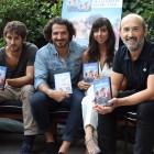 Raúl Arévalo, Jorge Torregrossa, Carmen Ruiz, y Javier Cámara en la presentación del DVD/Blu ray de La vida inesperada