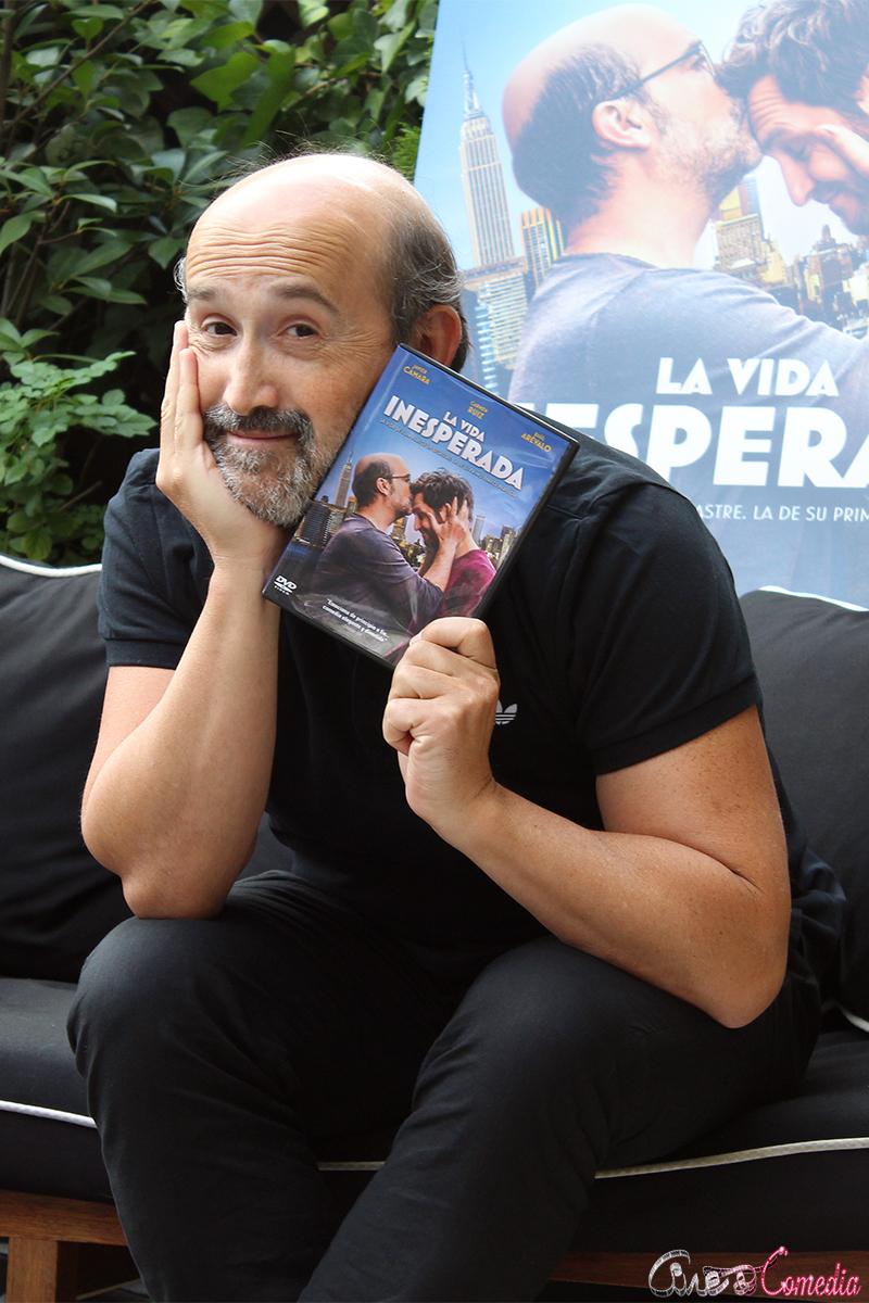 Javier Cámara en la presentación del DVD/Blu ray de La vida inesperada