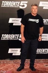 Alec Baldwin en la presentación de Torrente 5: Operación Eurovegas