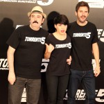 Carlos Areces, Angy y Julián López en la presentación de Torrente 5: Operación Eurovegas