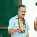 Javier Gutiérrez y Alberto Rodríguez en el rodaje de La isla mínima