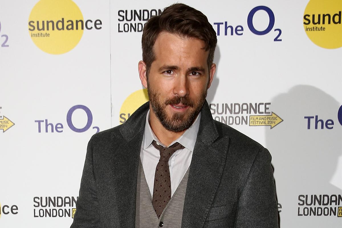 Ryan Reynolds en la presentación de The Voices en Londres.