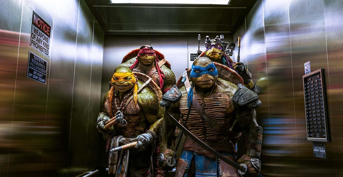 Michelangelo, Raphael, Leonardo, y Donatello en Ninja Turtles