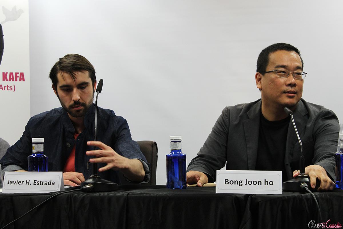 Javier H. Estrada y Bong Joon-ho en la VII muestra de cine coreano (2)