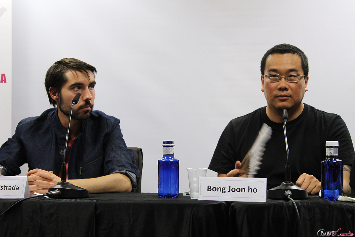 Javier H. Estrada y Bong Joon-ho en la VII muestra de cine coreano