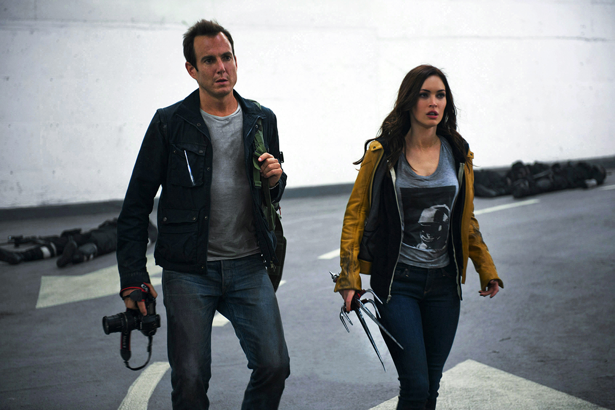 Will Arnett y Megan Fox en Ninja Turtles