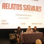 Carlos Reviriego, Damián Szifron, y Esther García en el encuentro exclusivo de Relatos salvajes