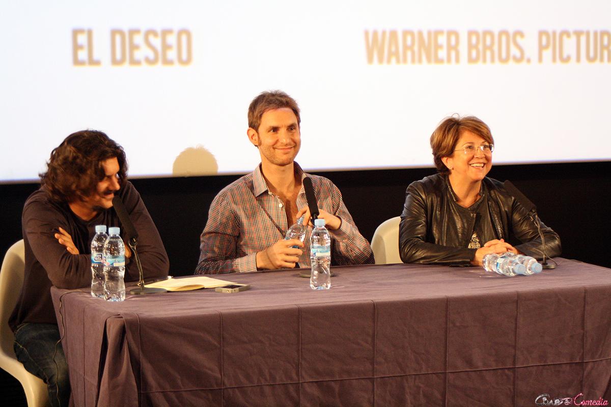 Carlos Reviriego, Damián Szifron, y Esther García en el encuentro exclusivo de Relatos salvajes (2)