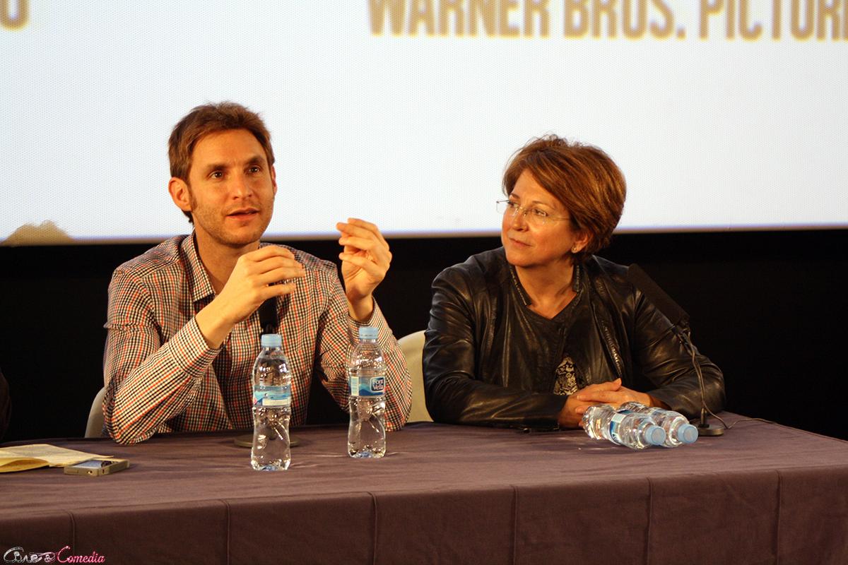 Damián Szifron y Esther García en el encuentro exclusivo de Relatos salvajes