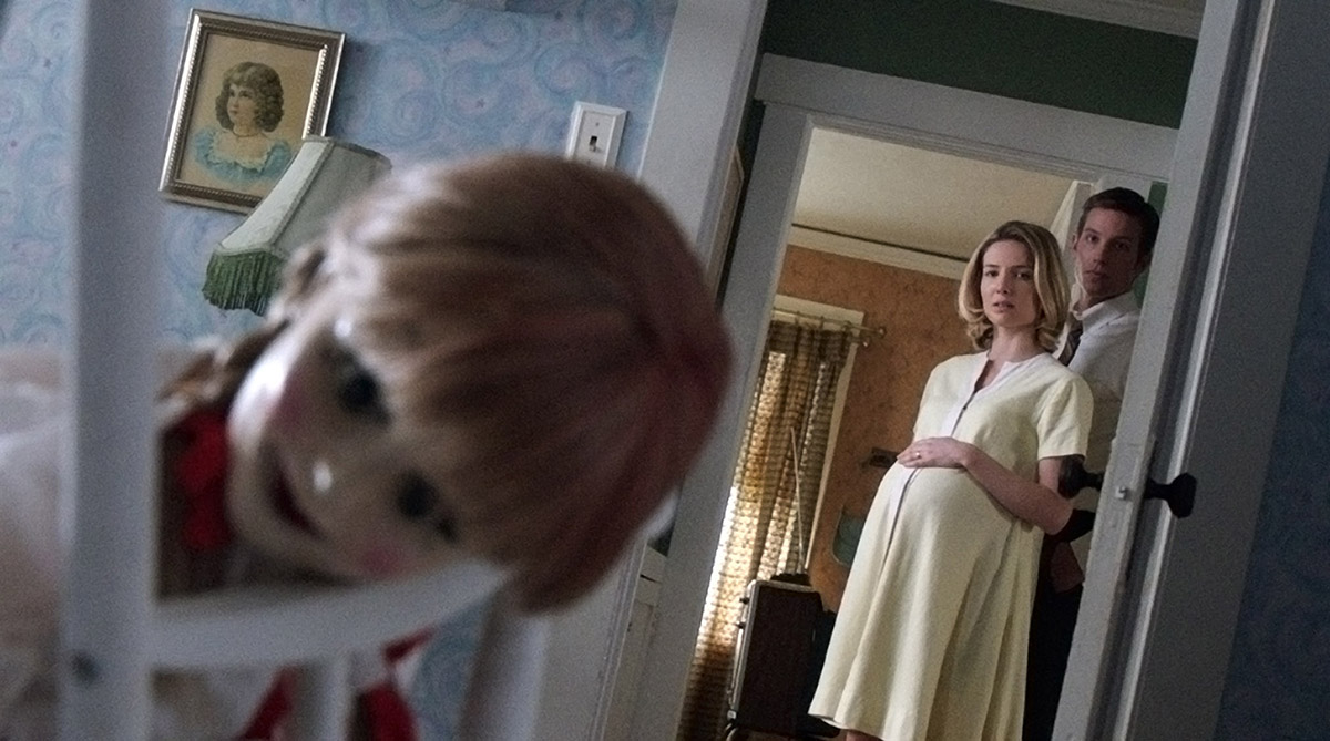 Annabelle,Annabelle Wallis, y Ward Horton en Annabelle