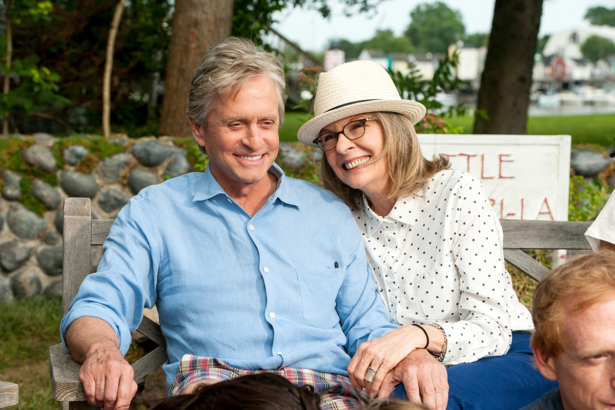 Michael Douglas y Diane Keaton en Así nos va