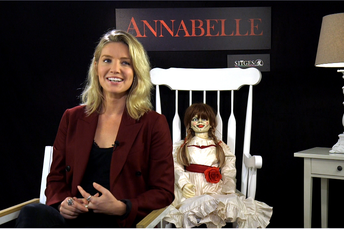 Annabelle Wallis en la presentación de Annabelle en el 47 Festival de Sitges