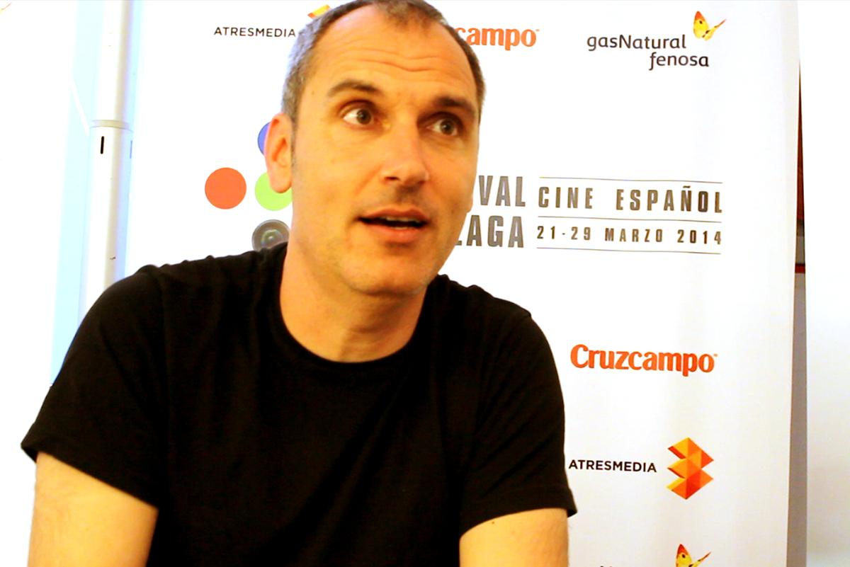David Marqués en la presentación de Dioses y Perros en el 17 Festival de Málaga